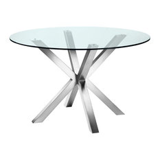 Bella Dining Table, Brushed Stainless Steel