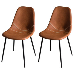 John Dining Chairs, Brown, Set of 2