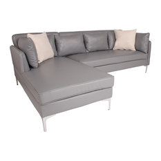 Gray L-Shape Sectional Chaise
