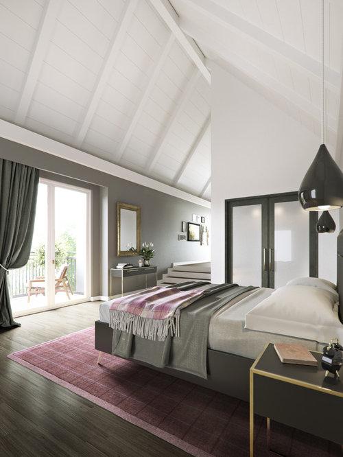 Wohnideen für Große Landhausstil Hauptschlafzimmer ohne Kamin mit ...