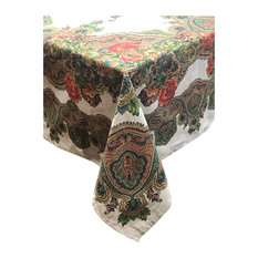 "Cashmere Cotton and Linen Tablecloth, 60""x84"""