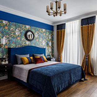 Пример оригинального дизайна: спальня в классическом стиле