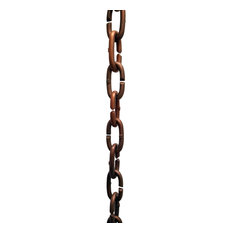 Cast Copper Links Rain Chain With Installation Kit, 8'