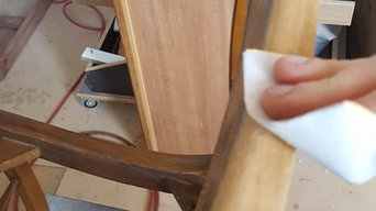 Cleaning antique dining chairs sanding