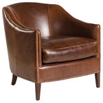 EuroLux Home - New Madison Leather Accent Chair  Club - Product Details