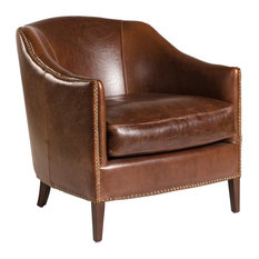 New Madison Leather Accent Chair  Club