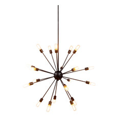 "Adair 20-Light 40"" Chandelier, Vintage Steel"