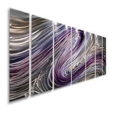 Purple And Silver Abstract Metal Wall Art By Jon Allen