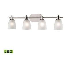 Jackson 4 Light Bathroom Vanity Light in Brushed Nickel