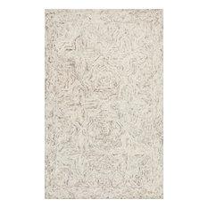 "100% Wool Neutral Ziva Rug by Loloi II, 3'6""x5'6"""