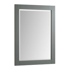 "Pemberton Gray Bathroom Vanity Mirror, 24""x31.5"""