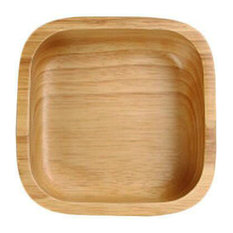 Wooden Dinnerware Fruit, Meat, Dessert Dishes Square Food Bowl 12.5 X 12.5 CM