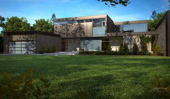 Modélisation 3D d'une maison moderne design