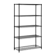 5-Tier Steel Urban Adjustable Storage Shelving Unit (White)