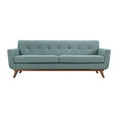 90.5 in. Upholstered Sofa in Laguna