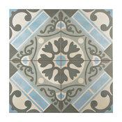 "17.63""x17.63"" Jive Ceramic Floor and Wall Tiles, Azul"
