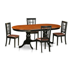5-Piece Dining Room Set Table With 4 Wood Dining Chairs