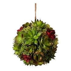 Red and Green Succulent Ball