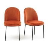Комплект из 2 велюровых стульев TOPIM LA REDOUTE INTERIEURS