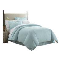 Home Collection Ultra-Soft Luxury Duvet Set, Full/Queen, Aqua