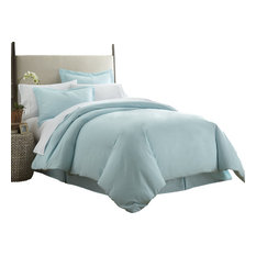ienjoy home home collection ultrasoft luxury duvet set aqua full - Comforter Covers