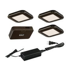 Instalux Linkable LED Bronze Under Cabinet Puck Light 3-pack Kit