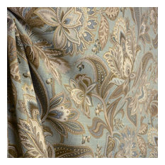 swavelle mill creek - Valdosta Mist Blue Floral Fabric, Sample - Drapery Fabric
