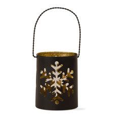 Black Snowflake Lantern With Handle