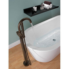 Freestanding Tub With Faucet Holes. You can also go for a wall mounted tub faucet but make sure you don t order  bathroom sink It will not put out enough water to fill Freestanding filler vs deck mount