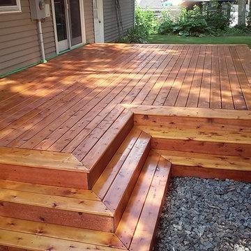 Cedar Deck, Full Wrap-around Steps