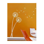 Dandelion Floral Wall Stencil Decal Alternative, Large