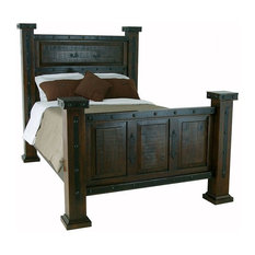 Southwestern Rustic Mansion Bed Queen Size
