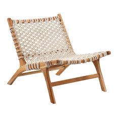 Woven Rope Teak Easy Chair