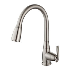 Kraus USA, Inc.   Single Lever Pull Out Kitchen Faucet, Satin Nickel