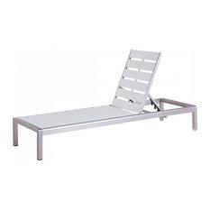 Beliani LLC - Nardo White Outdoor Sunbed - Sun Loungers