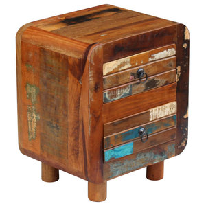 vidaXL Solid Reclaimed Wood Night Cabinet, 43x33x51 cm