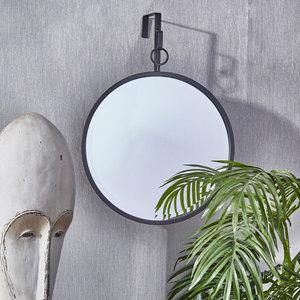 Sagebrook Home Black Hanging Mirror, Circle
