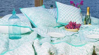 Aqua Green Bedding