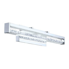 1x22.4W LED VanityWall Light w/ Chrome Finish & Clear Glass w/ Crystal Stones