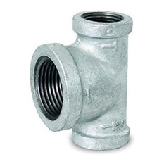 "1-1/4 By 1-1/4 By 1-1/2"" Galvanzied Malleable Iron Bull Head Tee"