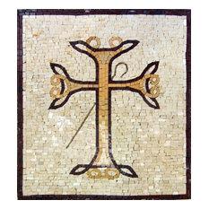 "Cross Marble Mosaic, 24""x26"""