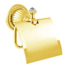 Mestre   Bronces Mestre Artica Toilet Paper Holder  24K Gold With Swarovski  Crystal   Toilet24 Carat Gold Toilet Paper Holders   Houzz. 24k Gold Toilet Paper. Home Design Ideas