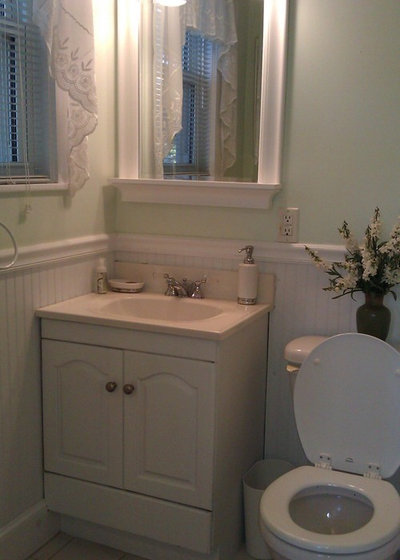 Room of the Day: A Pattern-Happy Powder Room With a Secret