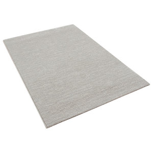 Skald Cream Rectangle Plain Rug, 160x230 cm