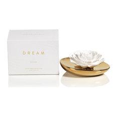 """""""Dream"""" Porcelain Flower Diffuser, White Rose"""