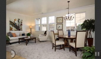 staged living and family rooms