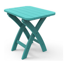 Harbor View Folding Side Table, Teal