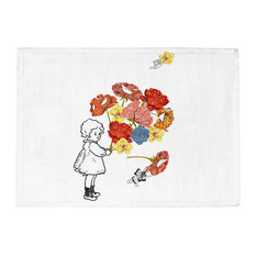 Dianoche Designs - DiaNoche Kitchen Place Mats by Marci Cheary - Flower Picking - Placemats