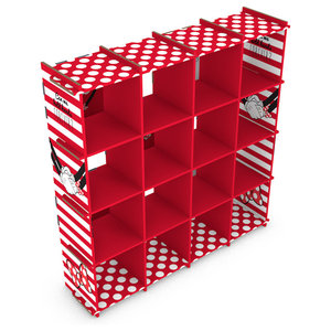 Fully Decorated Bookcase, Minnie, Red