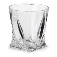 Alinéa - Quadro Verre à Whisky 34cl en  cristallite - Verre à Liqueur